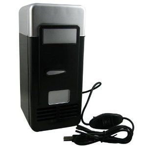 USB Powered Mini Fridge - Finally, a fridge for all you cubicle-dwellers that won't piss off the Floor Safety Monitor! Keep one can cold while you're cranking out your TPS reports.