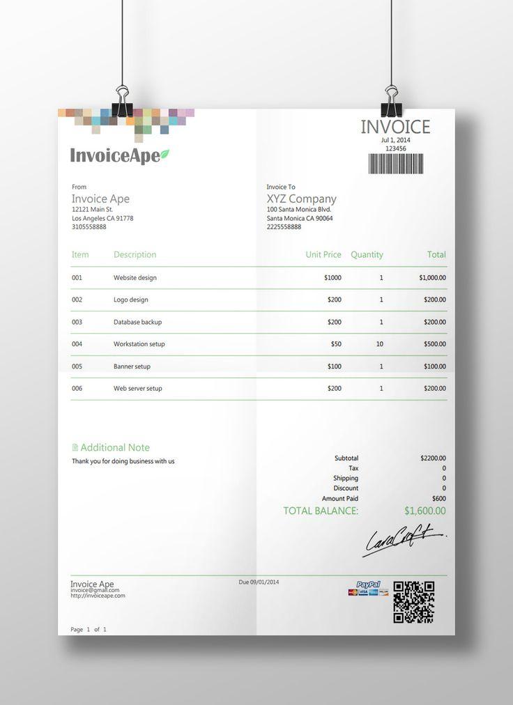 17 Terbaik ide tentang Invoice Creator di Pinterest - online invoice maker free
