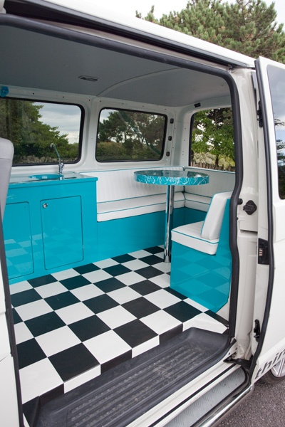 7 best campervan interiors clever ideas for limited for Vw camper van interior designs