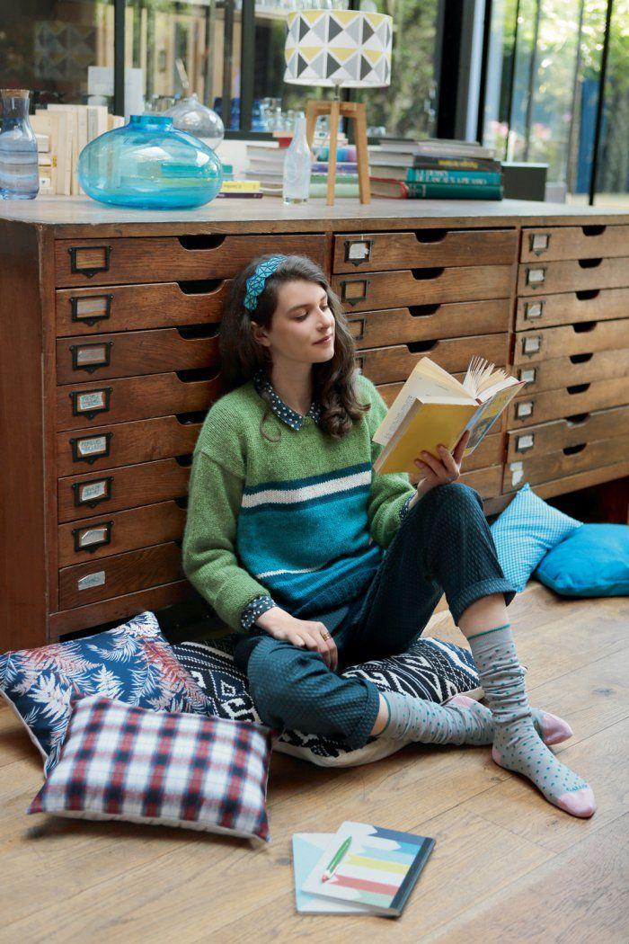 Patron de tricot pour tricoter un pull rayé - knitting pattern - Marie Claire Idées