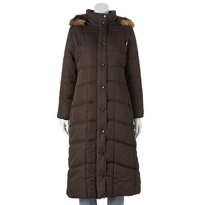 Excelled Hooded Long Puffer Coat - Women's