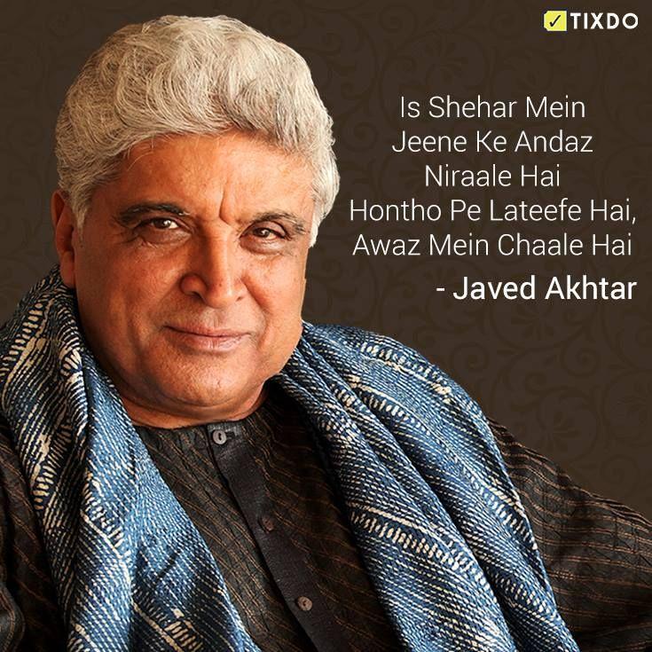 Wishing the legendary writer & poet Javed Akhtar a very #HappyBirthday!