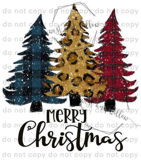 Merry Christmas With And Without Snow Christmas Trees Etsy In 2020 Christmas Tree With Snow Merry Christmas Christmas Tree