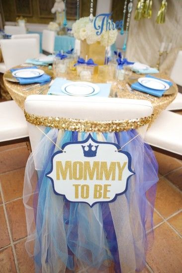 Royal Prince Baby Shower mommy to be chair