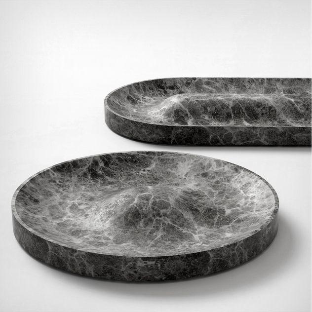 Jean Louis Iratzoki; Marble 'Domo' and 'Batela' Trays for Retegui, 2014