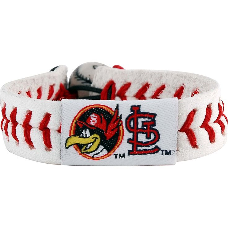 Gamewear 7731400764 St. Louis Cardinals Fred Bird Classic Baseball Bracelet