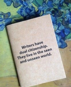 Pocket notebooks with inspirational writing quotes from The Little Book of Muses.