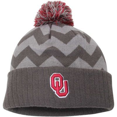 Celebrate your Oklahoma Sooners fandom with this Chevron knit hat!