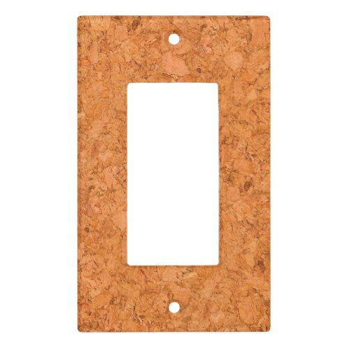 Chunky Natural Cork Wood Grain Look Light Switch Cover