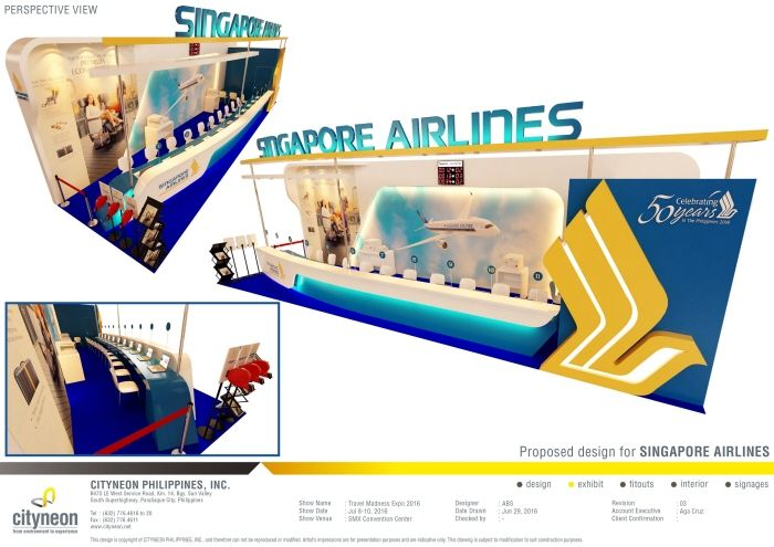 Exhibition Booth Design Singapore : Singapore airlines by bing suanino at coroflot