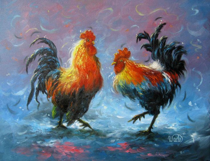 Rooster Paintings | Oil Painting - Vickie Wade art, rooster paintings, rooster prints, art ...