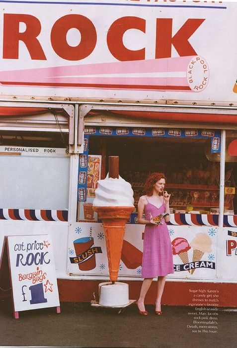 Karen Elson in Brighton, England, shot by Tim Walker