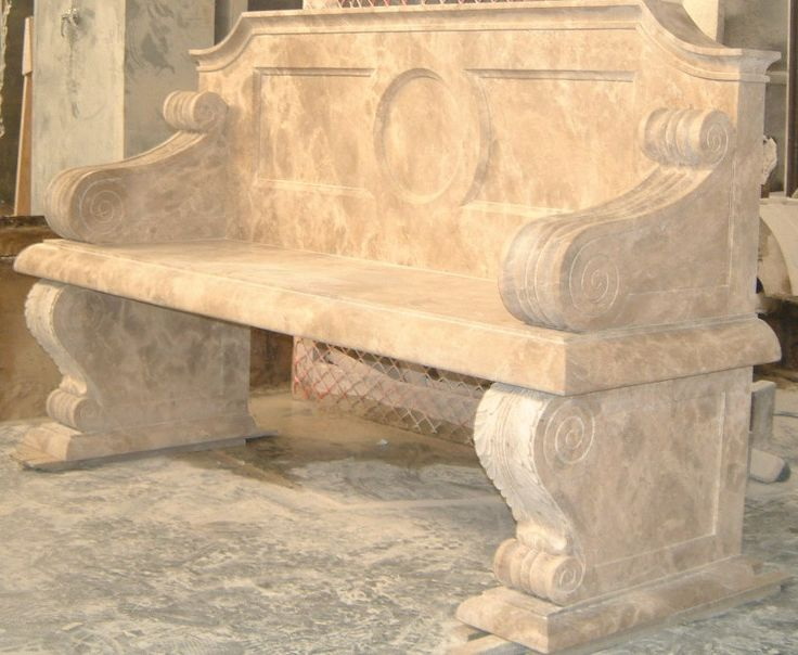 Stone Carved Bench