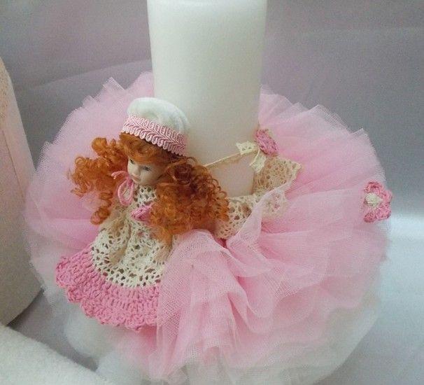 Lumânare Botez Pink Princess