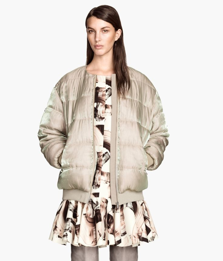 Canada Goose chateau parka online price - Short, padded jacket in shimmering woven fabric. | H&M Trend | H&M ...
