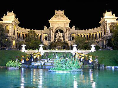 Palais Longchamp - Marseilles, France where there is a special showing of almost 200 artists including Matisse and Cezanne