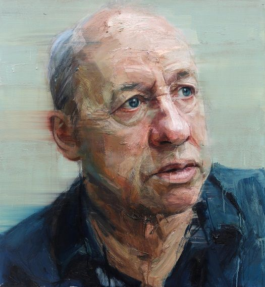 Colin Davidson Portrait of Mark Knopfler 2012 oil on linen 127 x 117 cm