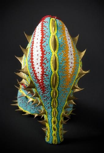 Marina Dempster beaded sculptures.  Follow the link to see beaded shoes.