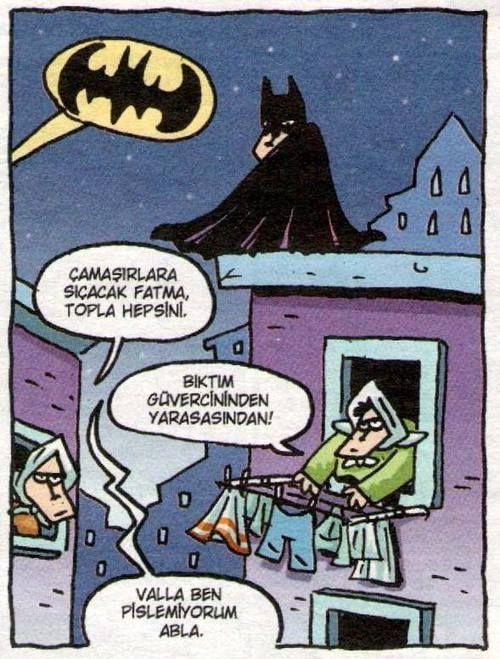 Batman 5 Son görev: Abla iknası. karikatür