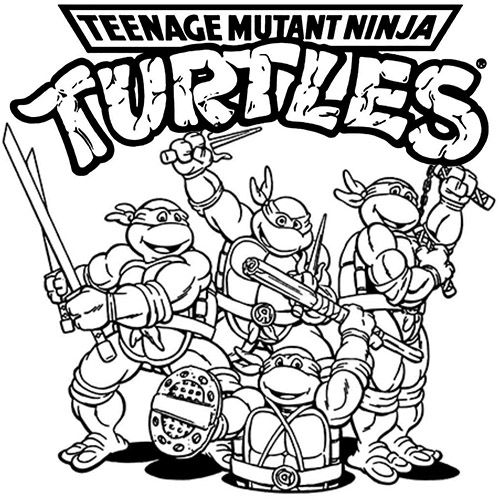 ninga turtles coloring pages