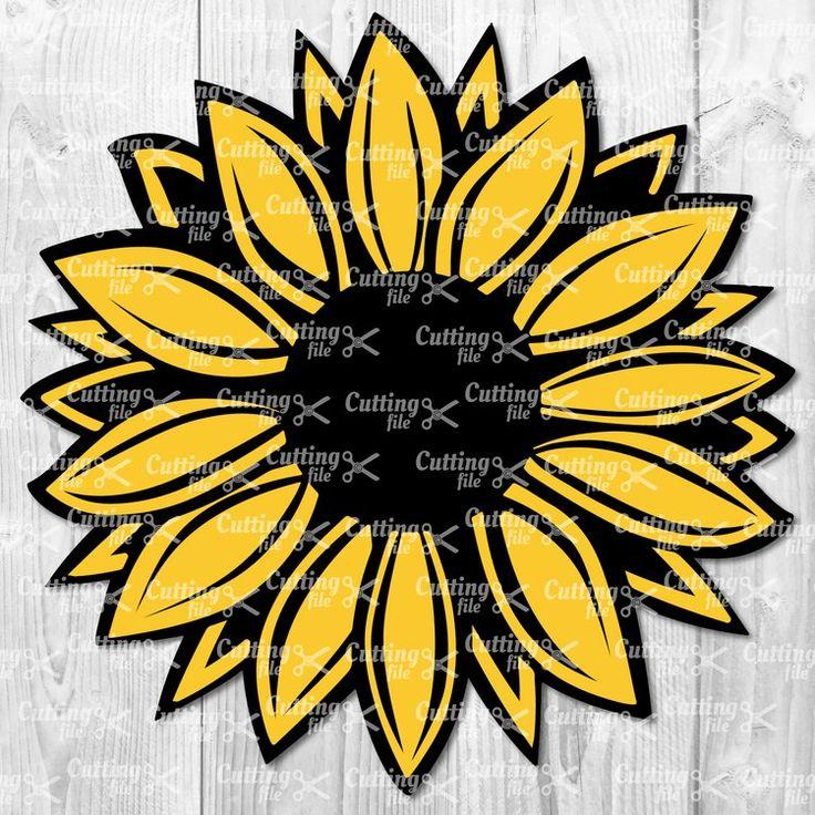 Sunflower SVG Flower SVG Sunflower Clipart Sunflower