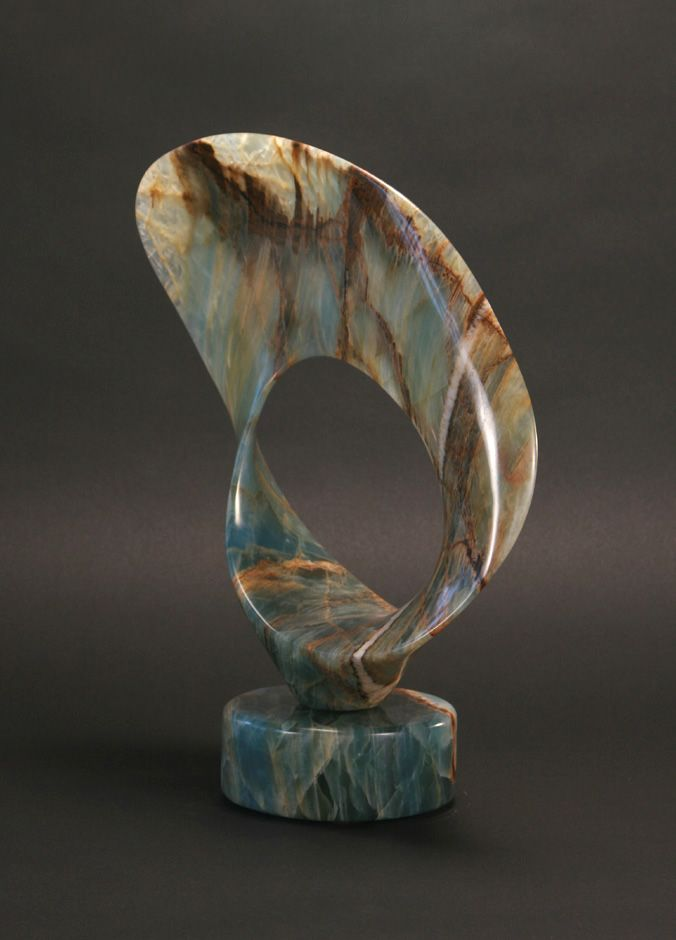 "T Barny, ""Seque,"" Argentine Onyx, 16 x 14 x 5, SOLD"
