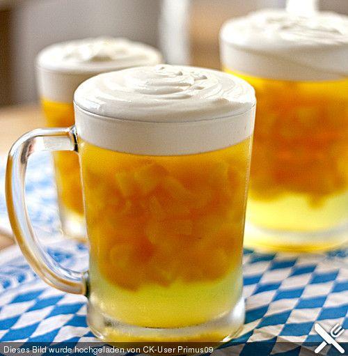 """""""Süßes Bier"""" mit Vanille-Schaum"""