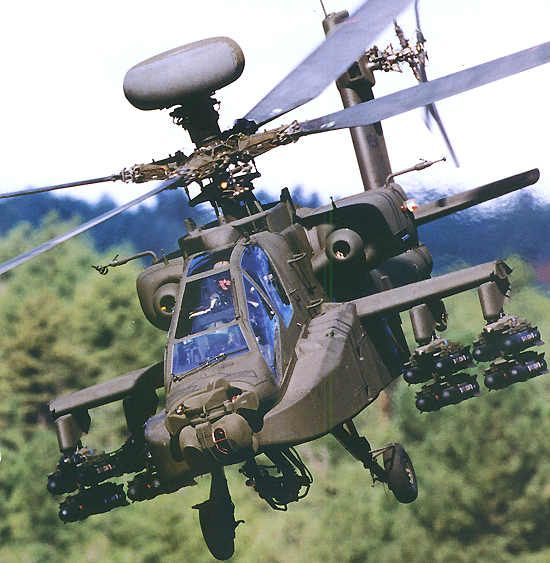 An Apache Longbow armed with 16 Hellfire missiles, eight under each wing. - Image - Airforce Technology