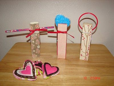 Valentine Games - A girl and a glue gun,  Knock one down get the prize!!