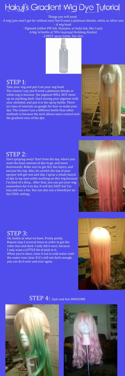 Gradient Dye Wig Tutorial by ~Hakuji on deviantART