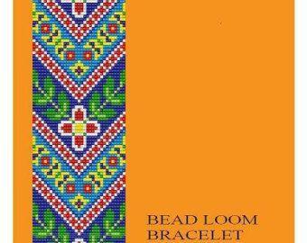 Artículos similares a Grano telar Vintage adorno 18, 21, 22 pulsera de múltiples colores patrones PDF en Etsy