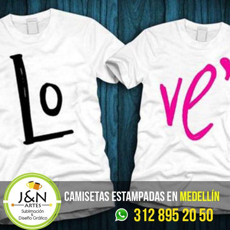 Camiseta Love Estampados en Medellin Colombia