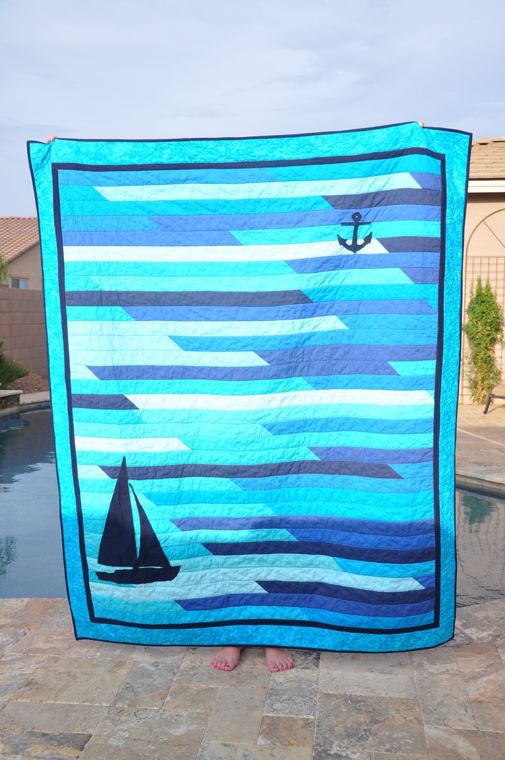 Make this with old jeans - a great picnic blanket!