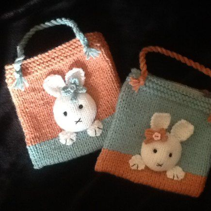 Bunny Bags for Two Sisters knitting project shared on the LoveKnitting Community