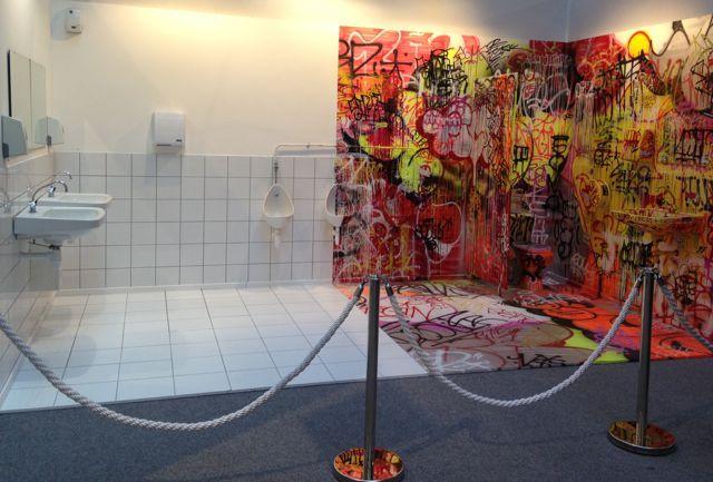 Panic restrooms by Tilt. YIA Art Fair 2014, Paris