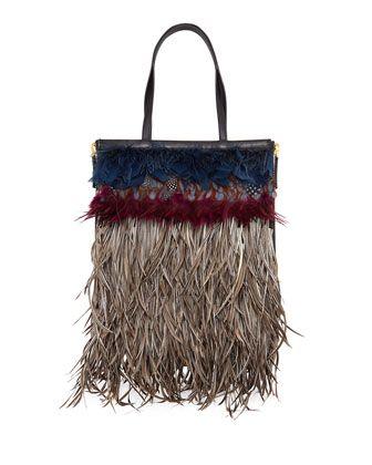 Statement Bag - Feather Wing Tip Bag by VIDA VIDA 7Sli8YSag