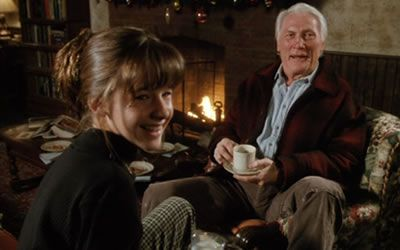 Ashley Gorrell and Jack Palance in I'll Be Home for Christmas (1997)