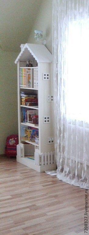 Купить 6. Шкаф книжный в детскую для детей - шкаф в детскую, шкаф для одежды, шкаф прованский