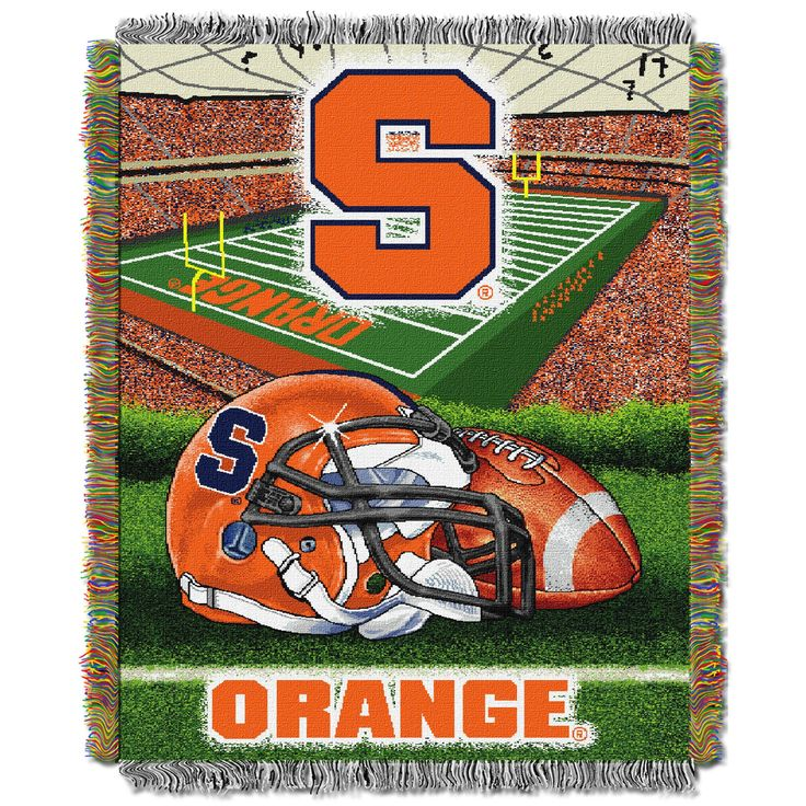"""Syracuse College """"""""Home Field Advantage"""""""" 48x60 Tapestry Throw"""