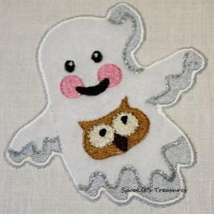 STE010_10  http://www.spookiestreasures.com/products/applique-little-ghost-4x4-9