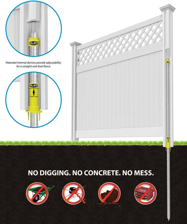 Do-it-yourself fence saves time and money! Vinyl and aluminum.