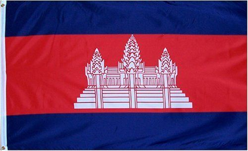 "Cambodia National Country Flag - 3 foot by 5 foot Polyester (New) by Country Flags ""C-D"". $5.25. Express Domestic Shipping is OVERNITE 98% of the time, otherwise 2-day.. Express International Shipping is Global Express Mail (2-3 days). FAST SHIPPER: Ships in 1 Business Day; usually the Same Day if pmnt clears by noon CST. 3 Foot by 5 Foot, Indoor-Outdoor, Lightweight Polyester Flag with Sharp Vivd Colors. 2 Metal Grommets For Eash Mounting with Canvas Hem for long ..."