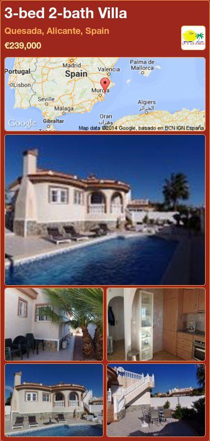 3-bed 2-bath Villa for Sale in Quesada, Alicante, Spain ►€239,000