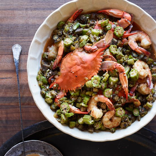 Okra Gumbo with Blue Crabs and Shrimp // More Recipes from Great New Orleans Chefs: http://www.foodandwine.com/slideshows/great-recipes-from-top-new-orleans-chefs #foodandwine