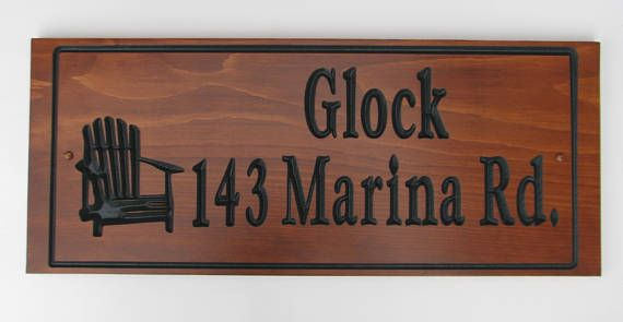 Custom Carved Wood Address Sign Family Name Sign Stained Sign