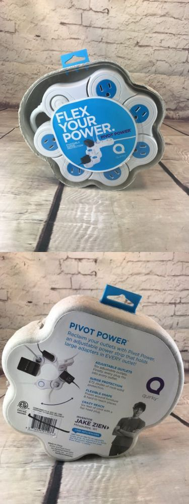 Surge Protectors Power Strips: Quirky Pivot Power 6 Outlet Flexible Surge Protector Power Strip White Blue -> BUY IT NOW ONLY: $30 on eBay!