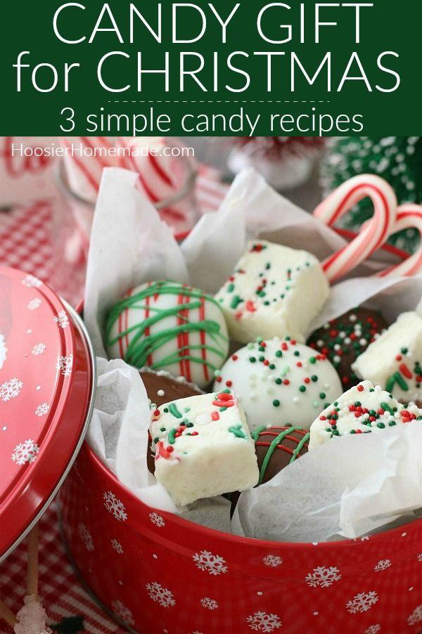 Homemade Candy Gift For Christmas Homemade Candy Gifts Homemade Candies Candy Recipes