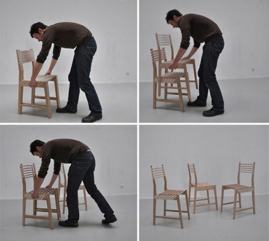 Triplette chair | La triple chaise empilable par Paul Menand