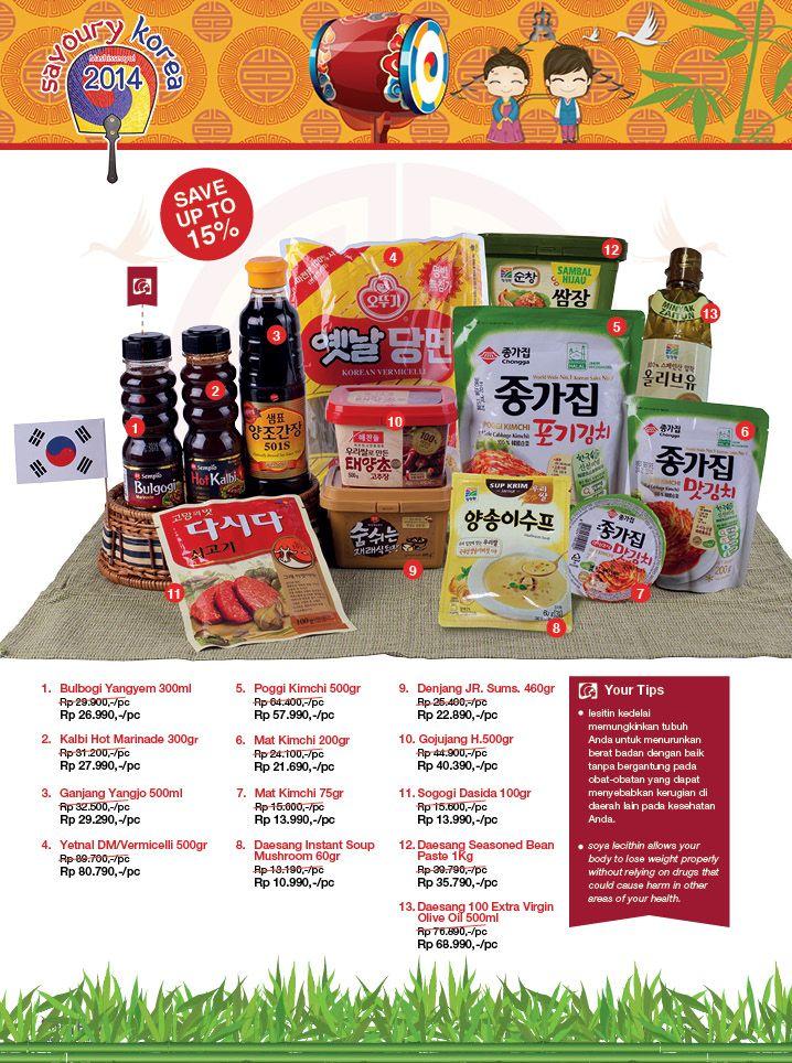 Dapatkan berbagai keperluan dapur Anda dengan membeli berbagai macam Produk Khas Korea hanya di Hero Supermarket.