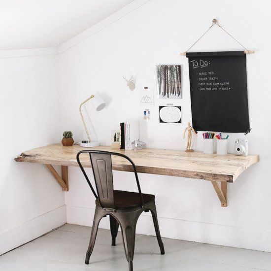 Learn How To Make This Wall Mounted Desk With A Tip For Getting Large Wood Slab Look Little Er And Easier